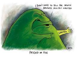 The Green Blob identifiesitself