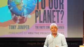 Tony Juniper at the main Hay Festival