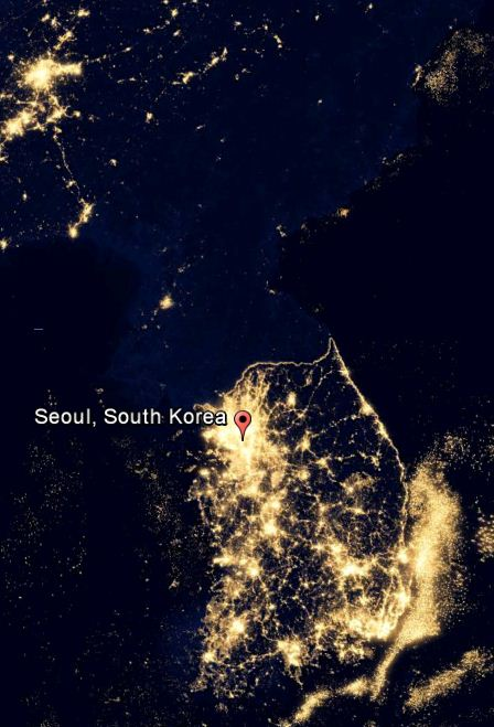 korea-nightview-from-space-south-and-north-korean-border