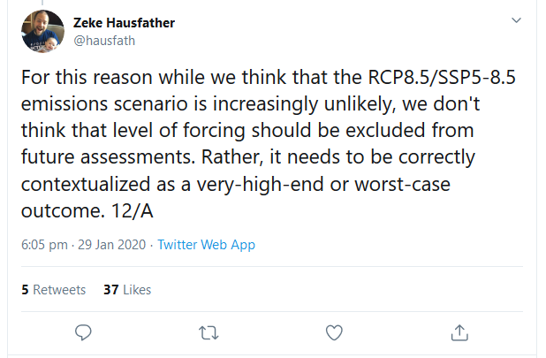 Screenshot_2020-01-30 Zeke Hausfather on Twitter For this reason while we think that the RCP8 5 SSP5-8 5 emissions scenario[...]